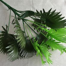 60cm Wedding Home Church Florist Furniture Decor Artificial Coconut Fan Palm Plant Tree no Vase Fake Foliage(China)