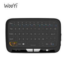 H18 Mini Wireless Keyboard 2.4GHz Portable Keyboard With Touchpad Mouse for Windows Android/Google/Smart TV Linux Windows Mac(China)