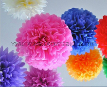 "Tissue Paper Pom Poms 10pcs Mixed Color 8"" 20cm Wedding Ball Party/Birthday/Baby shower/Nursery Car decoration Hot Sale New"