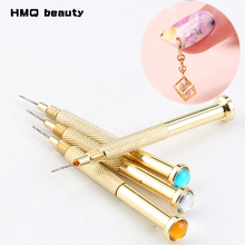 Nail Art Hand Dangle Pierce Drill Hole Puncher Dotting Pen Gel Acrylic Tip Maker Piercing Salon Manicure Tool(China)