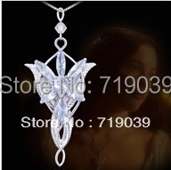 The Lord of the Rin gs Necklace Evening Star Pendant Necklace crystal Twilight star pendant necklace women jewelry wholesale Hot(China)