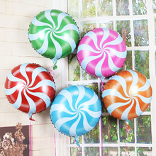 Helium Balloon Windmills Lollipop Aluminum Foil Balloons Inflatable gift Children's Birthday Party Decoration Ball 18 inch