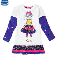 novatx H3660 new arrival Girls dresses flower children clothes frocks kids clothes fashion girl dress baby girls party dress hot