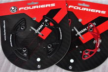 FOURIERS MTB Chainring Chain guard mountain Bike Crankset protect Cover bike Chain ring bicycle  Chainwheel protection plate
