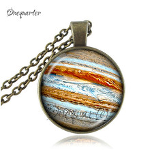 Venus necklace orange space pendant glass cabochon jewelry galaxy Necklaces colar planet Jewellery charm universe wholesale