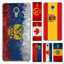 Russian Spain flag  Pakistan Canada Israel Hard Cover Case for Meizu M5 M3 M2 Note M3S M3 M2 Mini M5S U10 U20 Pro 6