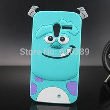 New Monsters University 3D Cartoon Sulley Silicone Mobile Phone Case Cover For Motorola Moto X XT1055 XT1058 XT1060(China)