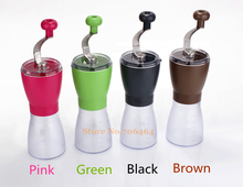 Portable Washable ABS Ceramic core manual coffee grinder Black/Brown/Pink/Green random high quality  kitchenware fashion grinder