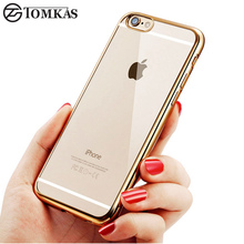 TOMKAS Silicone Case For iPhone 6S 6 Plus Coque Cover Fashion TPU Ultra-thin Soft Transparent Phone Cover For iPhone 6s Cases(China)