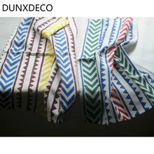 DUNXDECO 1PC 35x47CM Modern Nordic Colorful Stripe Arrow Cotton Table Placemat Bar Coffee Store Home Napkin Food Photo Prop