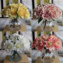 Dahlia Chrysanthemum Artificial Silk Flowers Gerbera Fake Bridal Bouquet Flore Christmas Wedding Party Home Decorative Flor(China)