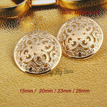 15mm/20mm/23mm/25mm pure metal rose gold button retro hollow suit dust coat small suit coat buttons shank