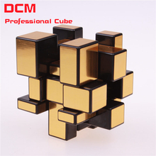 Fidget cube 3x3x3 Magic Mirror Cub Gold/Silver cubo stress magico Cast Coated Puzzle Speed Twist learning & education kids Toys(China)