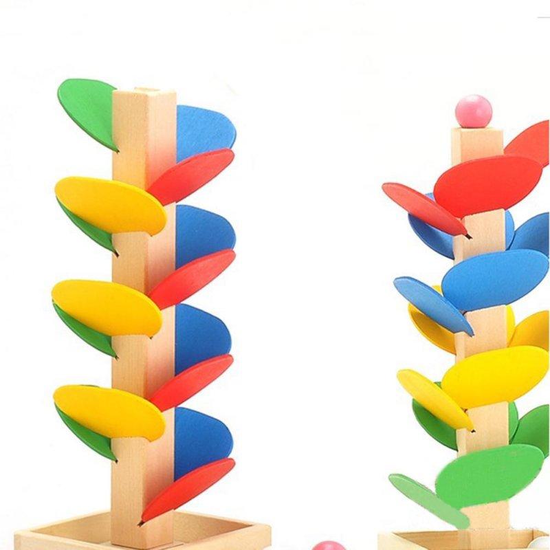 Wooden Montessori Educational Blocks Tree Game 5