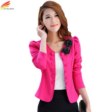 Buy Free Blaser Feminino 2017 New Fashion Women Slim Blazer Coat Casual Jackets Sleeve Double Breasted Suit Ol Outerwear for $10.88 in AliExpress store