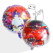 2pcs 18 Big Hero 6 Figure Robot Foil Balloons Wedding Birthday Party Decoration Kids Party Supplier Air Balloon Globos Party
