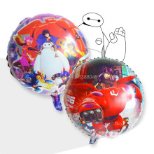 2pcs 18 Big Hero 6 Figure Robot Foil Balloons Wedding Birthday Party Decoration Kids Party Supplier Air Balloon Globos Party(China)