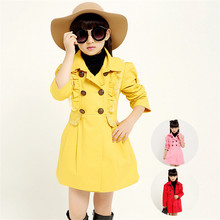 Designer children's Girls clothes autumn/winter girls trench coat jacket Lace children jacket coat