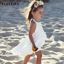 Baby Girls Solid Beach Dress Kids Backless Swallowtail Princess Dress Children Holiday Bohemian Style Clothes Harness Costume