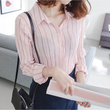 Buy Long sleeve blouse striped shirt women blouses cotton tops ladies shirts chemise femme blusas mujer de moda 2017 womens clothing for $14.68 in AliExpress store