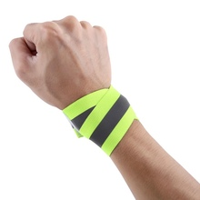 1 Pair High Visibility Band Reflective Wristbands Elastic Ankle Wrist Bands arm For Waling Cycling Running Outdoor Sports(China)