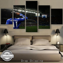 5 Pieces Modern Canvas Painting Artwork Chelsea Football star Paintings on Canvas Wall Art for Home Decorations Wall Decor Art
