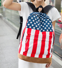 Free shipping 2015 / famous designer brand fashion / UK flag / USA flag bag /  bag fashion schoolbags Travel backpack