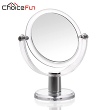 CHOICE FUN Antique Acrylic Plastic Make Up Cosmetic Mirror Round Shape Decorative Makeup Bathroom Vanity Mirror(China)