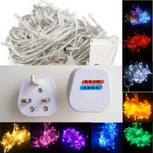 1 PC New String Light 100 LED 10M Christmas/Wedding/Party Decoration Lights AC 110V 220V outdoor Waterproof led lam P0