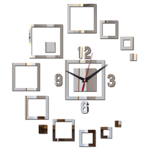 2017 hot sale wall sticker clocks home decor acrylic mirror surface modern furniture diy stickers art(China)