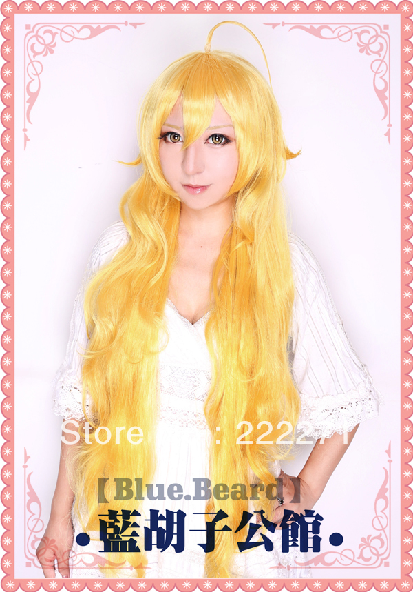 Free Track Anime RWBY Yellow trailer Long Wavy Gold Full Lace Cosplay Wig Costume Heat Resistant + Cap<br><br>Aliexpress