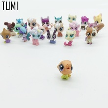 20pcs/Lot Littlest Pet Shop Animals Cats Dogs Kids Children Birthday Christmas Gifts Action Figures PVC LPS Toys/Vinyl Doll D060