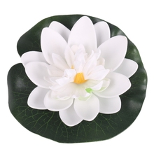 5PCS Real Touch Artificial Lotus Flowers 10CM Foam Lotus Flowers Water Lily Floating Pool Plants Wedding Garden Decoration New