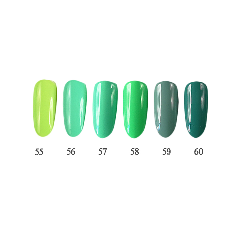 6PCS 12ml 3 steps Nail Gel Kit UV/LED suitable for salon and do it at home QBEKA 55~60 Matcha<br>