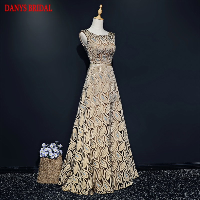 Champagne Long Evening Dresses Party for Women Ladies Elegant Formal  Evening Gowns Dresses Wear robe de 0c08d03178b5
