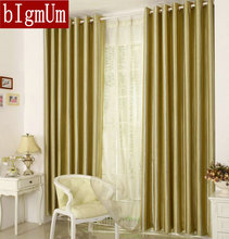 New Design Curtains Striped Hotel Curtains Blackout Curtains+ White Tulle Customized For sale Solid Color