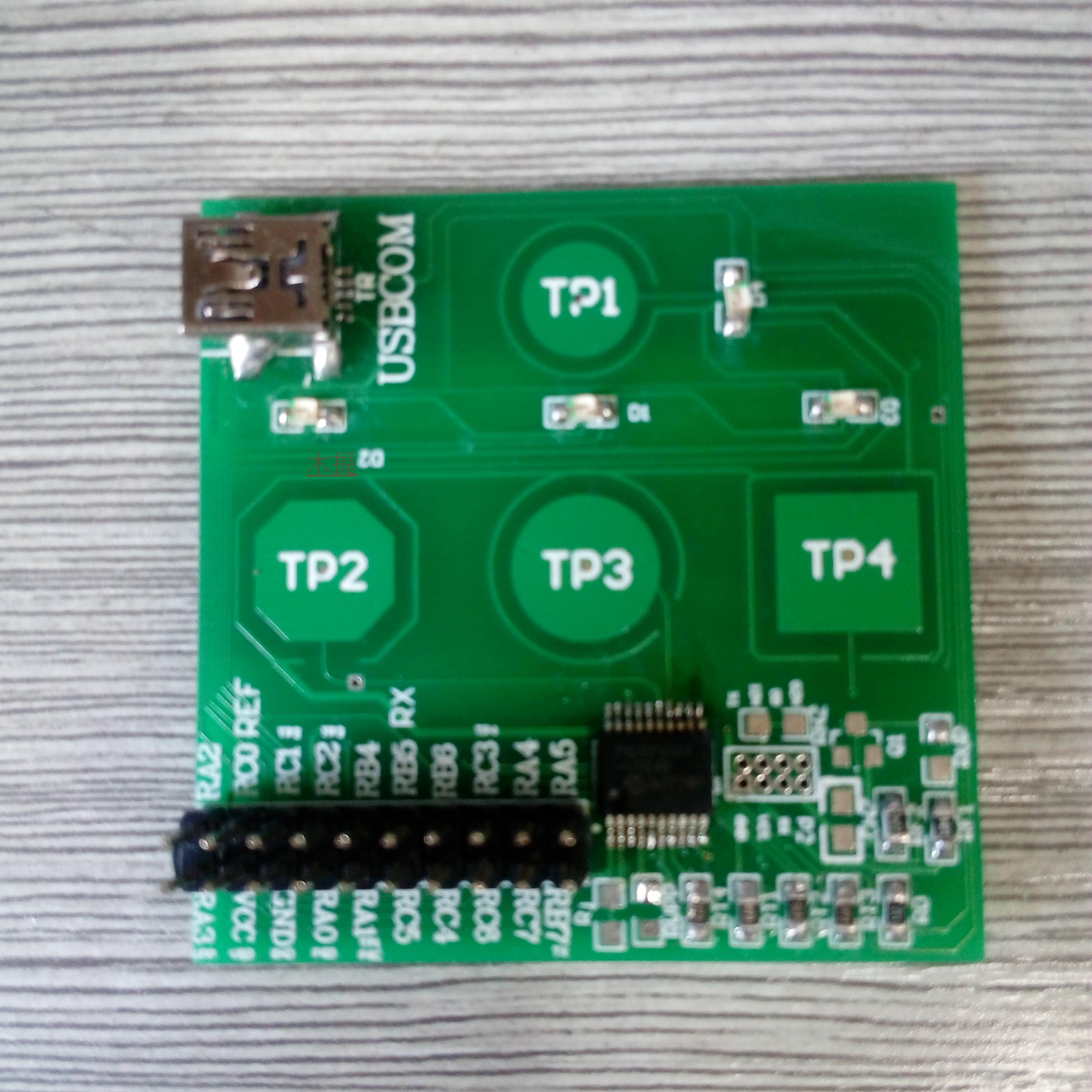 16F1828/9 capacitive touch key PIC learning PIC development board capacitive development board touch development<br>