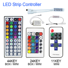 1set Remote Control Dimmer DC 12V 24keys Box 44keys 11keys Mini LED Controller for SMD 3528 5050 2835 Led Strip Light no battery(China)