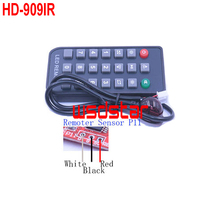 HD-909IR HUIDU IR remote LED controller Only support HD HUIDU Single & Dual color LED sign controller