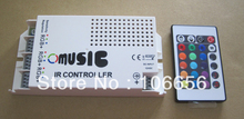 Hot sale! Music sound sensor RGB controller RGB IR controller FOR LED STRIP can conect 5m 5050 300led strip(China)