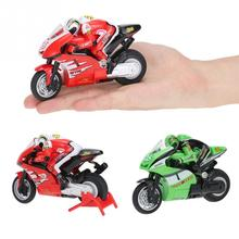 RC Motorcycle Toys 8012 1/20 2.4G Remote Controlled mini RC Motorcycle Super Cool Toy Stunt Car For Children Gift(China)