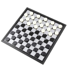 UB Magnetic International Checkers Portable Folding Plastic chess game Board Size 25cmx25cm white + red or white + black