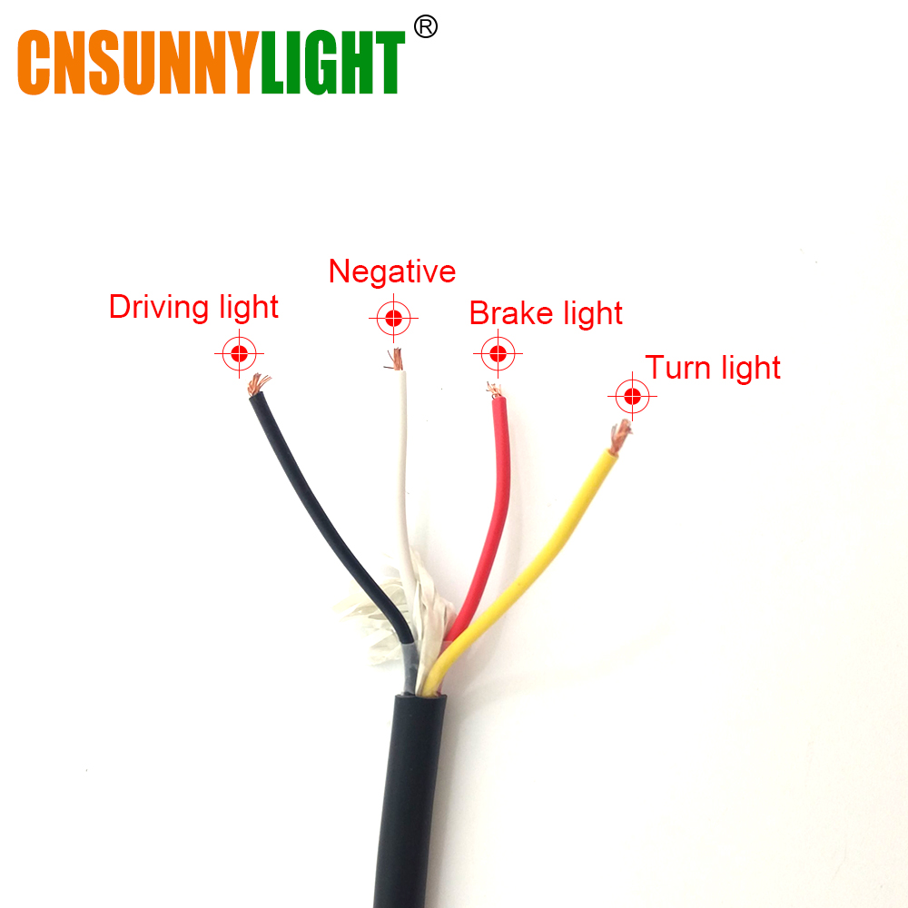 CNSUNNYLIGHT LED Car Truck Stop Rear Tail Brake Reverse Light Turn Indiactor 12V 24V ATV Trucks Trailer Lamps Tailight Assembly (5)