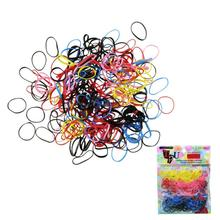 500pcs/lot Rubber Hairband Rope Ponytail Holder Elastic Hair Band Ties Braids magische knot maker real hair extensions accessoir(China)