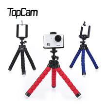 SHOOT Rotation Mini Flexible Sponge Octopus Tripod Desktop Stabilizer With Holder for Phone Action Camera for d3300 d3200 DSLR