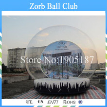 Free Shipping Diameter 5m Cheap Inflatable Snow Globe , Inflatable Snow Ball , Inflatable Snow Balloon