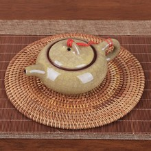 6 Size Rattan Weave Cup Mat Set Drink Coasters Round Pot Pad Table Dish Porta Copos Placemat Home Decoration Insulation Handmade(China)