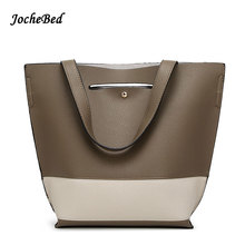 Vintage Women Casual Handbags PU Leather Patchwork Lady Shoulder Bags Michaeled Handbags Women Bolsos Mujer De Marca Famosa 2016