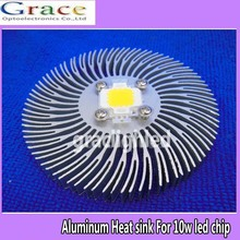 1pcs 90mm*10mm Round Spiral Aluminum Heat sink for 10W Watt High Power LED Lamp(China)