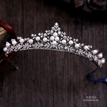 Fabulous Simple Wave Leaf Brand Cute Gorgeous Spain Royal Tiaras And Crowns All Zirconia Zircon Big CZ For Kid Girl Wedding Gift(China)